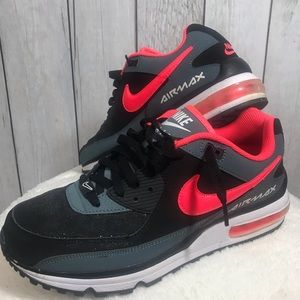 Nike Size 10 Air Max Wright Black Atomic Red Shoes